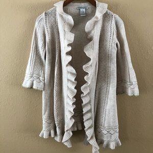 ALBERTO MAKALI Angira Blend Ruffle Wrap Sweater M